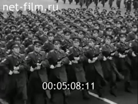 Soviet October Revolution Parade, Leningrad 1972 Парад 7 Ноября