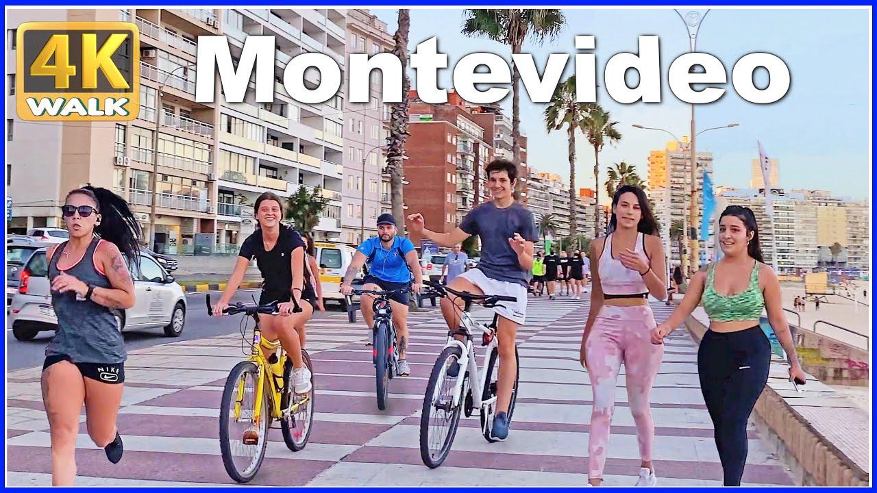 【4K】WALK Sunset - MONTEVIDEO Uruguay 4K video UY Travel vlog