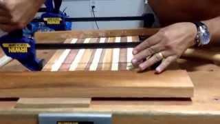 Tabua de carne com filetes de madeiras diversas. Como fazer uma tabua para corta carne