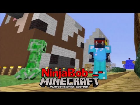 """Minecraft PS3 Survival - """"How now brown cow"""" (Trophy Town #11)"""