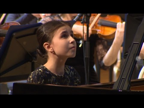 Alexandra Dovgan, (9 y.o.) II-nd Vladimir Krainev Moscow International Piano Competition Final