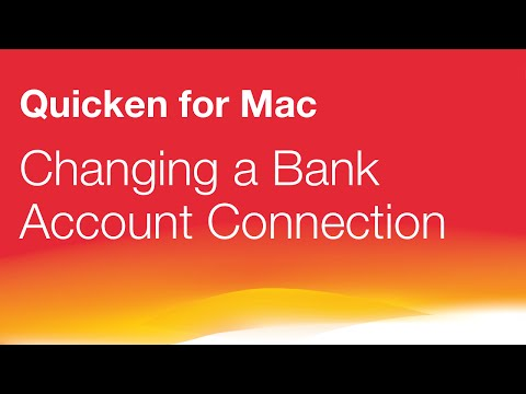 Quicken for Mac - Bank Account Connection Change