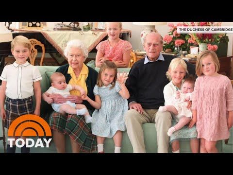 Buckingham Palace Shares Sweet Photo Of Prince Philip With Great-Grandchildren   TODAY