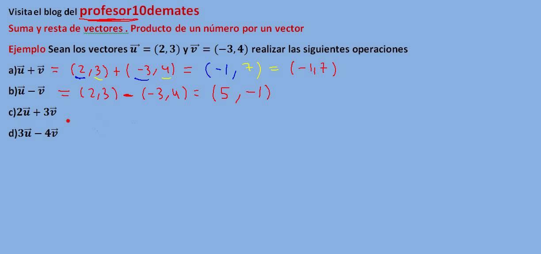 producto vectorial ejercicios resueltos pdf