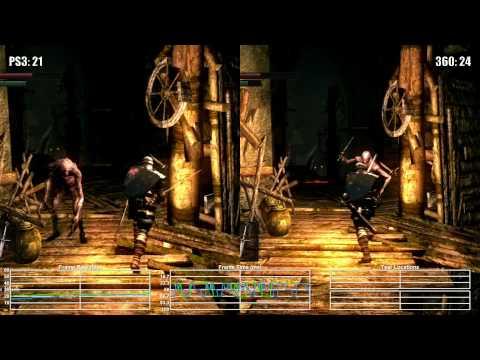 Dark Souls: PS3 vs Xbox 360 Blighttown Frame Rate Test