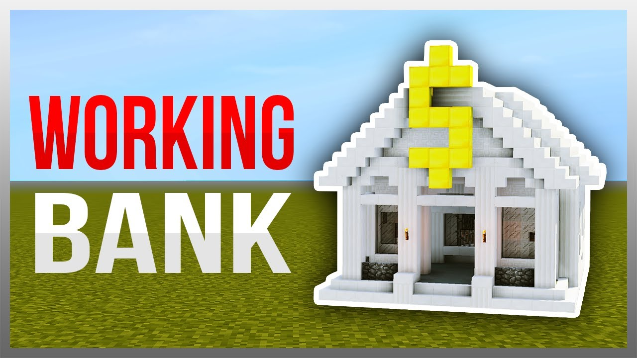 Minecraft pocket edition redstone bank | easy bank building.