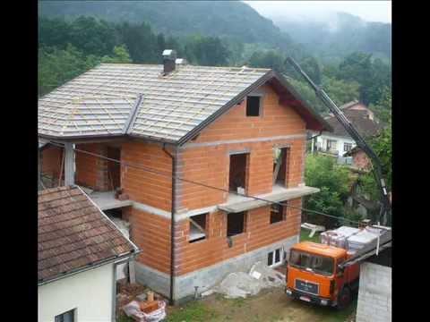Gradnja kuce od temelja do krova -Nice house construction - YouTube