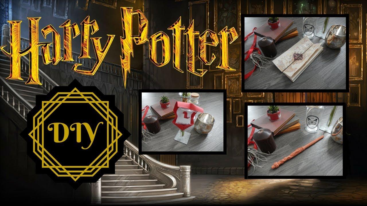 Diy Fr Harry Potter Baguette Lumineuse Carte Du Maraudeur