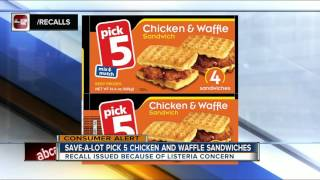 Save-A-Lot chicken & waffle sandwiches recalled due to Listeria