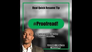 Real Quick Resume Tip