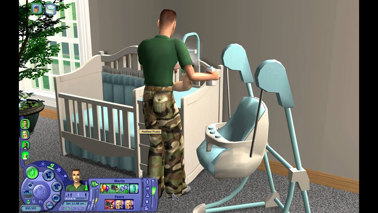 Toddler Girl Bedroom Wallpaper The Sims 2 Nursery Add Ons Youtube