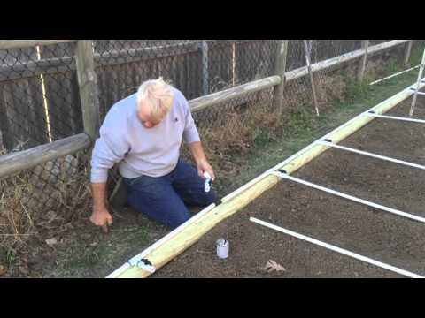 Garden PVC watering system