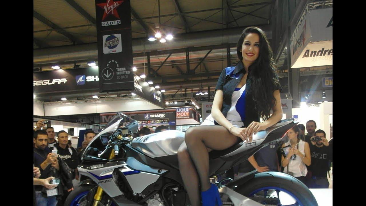 Yamaha Yzf R >> Yamaha YZF-R1 M 2015, with GIRL on top video EICMA 2014 ...