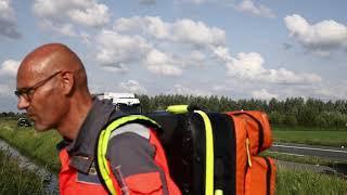 Ongeval motorrijder Van Heemstraweg Wamel 20 08 2019