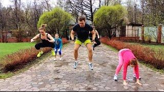 Интенсивная кардио-силовая тренировка Табата для дома - Hardfoxez. 8 минут. Сжигание жира.