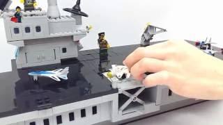 Видеообзор конструктора Brick Combat Zones 113 Лего корабль