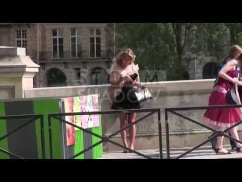 Sylvie Meis Van Der Vaart  walking in the streets of Paris