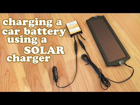 How To Charge A Car Battery Tender - Solar Charger - Charging Rechargeable Batteries DIY - DIYdoers