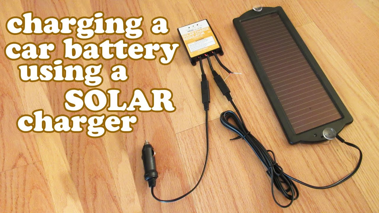 How To Charge A Car Battery Tender Solar Charger Charging Rechargeable Batteries Diy Diydoers Youtube