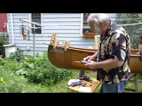 gunnwale repair Bell Prospector canoe