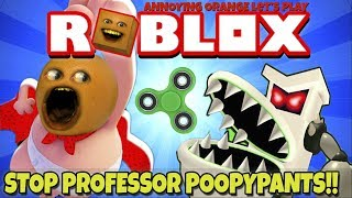 Annoying Orange Plays - ROBLOX: Stop Professor Poopypants!! thumbnail