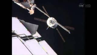 ATV5 ISS docking in 10x timelapse