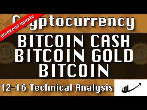 12-16 BITCOIN CASH : BITCOIN GOLD : BITCOIN Update CryptoCurrency Technical Analysis Chart