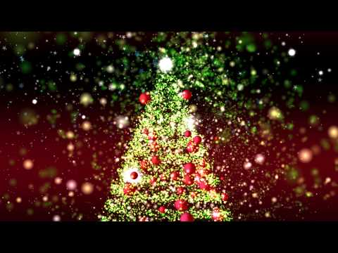 4K  GREAT CHRISTMAS TREE ANIMATION ULTRA-HD PARTICLES BACKGROUND AA VFX