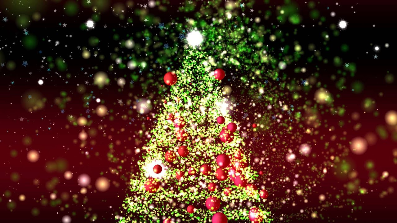 4K GREAT CHRISTMAS TREE ANIMATION ULTRA-HD PARTICLES BACKGROUND AA ...