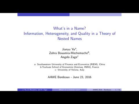 Angelo Zago Presentation (10th Annual Conference 2016 in Bordeaux)