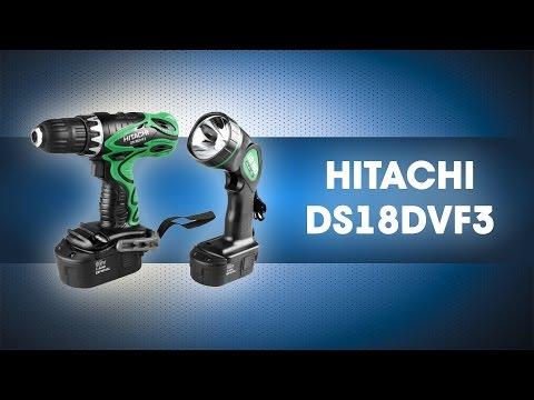 Аккумуляторная дрель шуруповерт 18 В, HITACHI, DS18DVF3