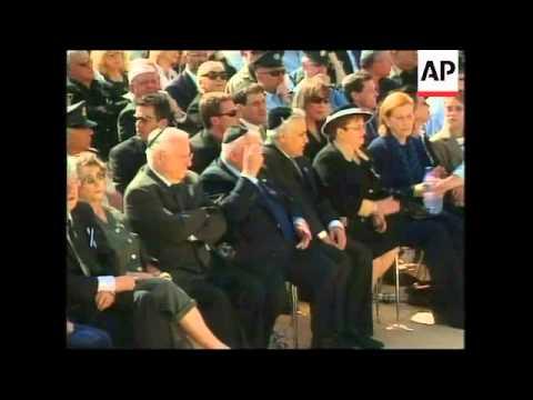 Funeral for former president, includes Sharon bite