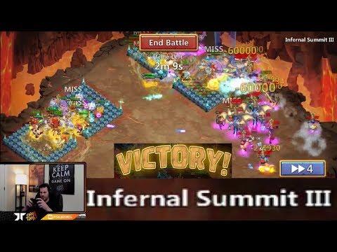 JT's F2P Infernal Summit 3 Explaining Set Up Castle Clash