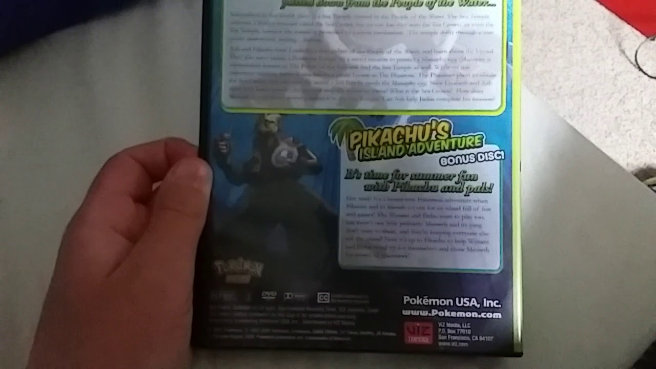 Pokemon Ranger And The Temple Of The Sea Us Dvd Unboxing Youtube