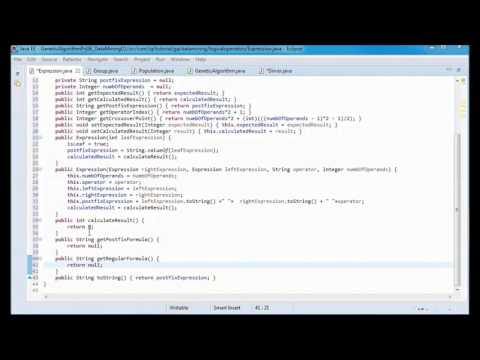 Genetic Algorithms Tutorial 06 - data mining + JAVA 8 + logical operators