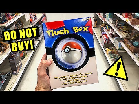 *PLEASE DO NOT BUY THIS!* - Opening NEW Plush Box Pokemon Cards Boxes AT TARGET STORE!