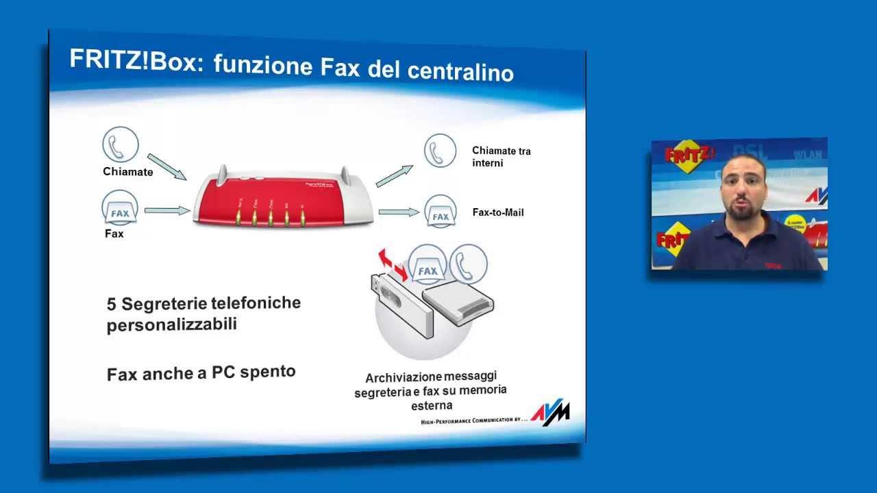 Fritz box 7330 la funzione fax integrata youtube - Fritzbox 7330 login ...