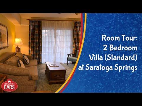 Full Room Tour of the 2 Bedroom Villa Standard at Disney's Saratoga Springs Resort
