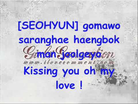 SNSD Girls' Generation Kissing You w/ lyrics