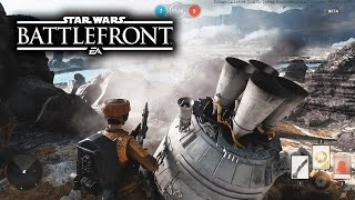 EPIC KILLSTREAKS! Star Wars Battlefront Beta Drop Zone Multiplayer Gameplay