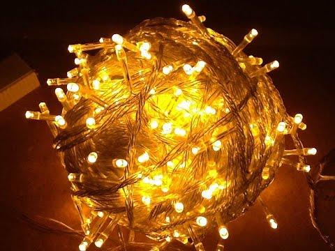 Smokin' ebay 100, 200 and 500 LED fairy light strings from China.