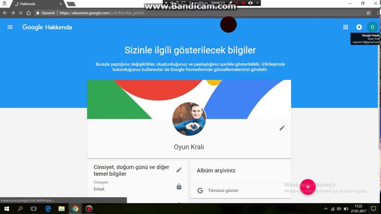 Google hizmetlerini kullanmak için gmail.com hesabınızı nasıl geri yükleyebilirim
