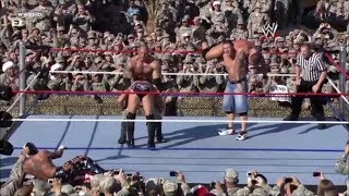 John Cena, Batista & Rey Mysterio vs Randy Orton & Jeri-Show - Tribute to the Troops 2008