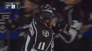 Kopitar with a laser beam to beat Hellebuyck