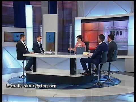 """RTCG   Radio Televizija Crne Gore   Nacionalni javni servis emisija """"Okvir""""- Vladimir Martinović"""