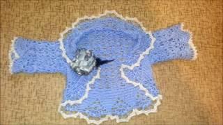 Вязание крючком. Болеро на любой возраст. (Crochet. Openwork bolero.)