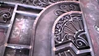 Кованые ворота до окраски - видно сколько труда вложено в каждый элемент(, 2015-03-01T02:54:31.000Z)