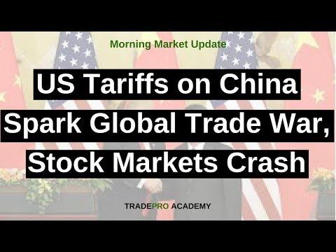US Tariffs on China Spark Global Trade War, Stock Markets Crash