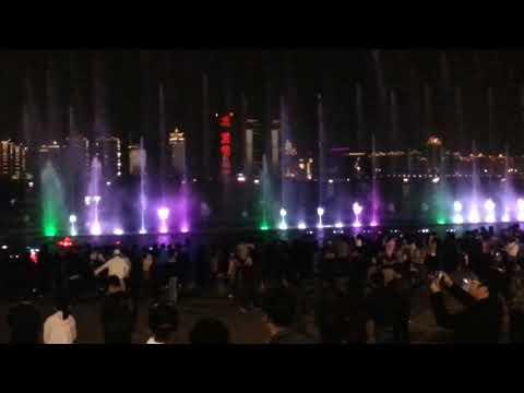 Water and light show along Ganjiang River in Nanchang