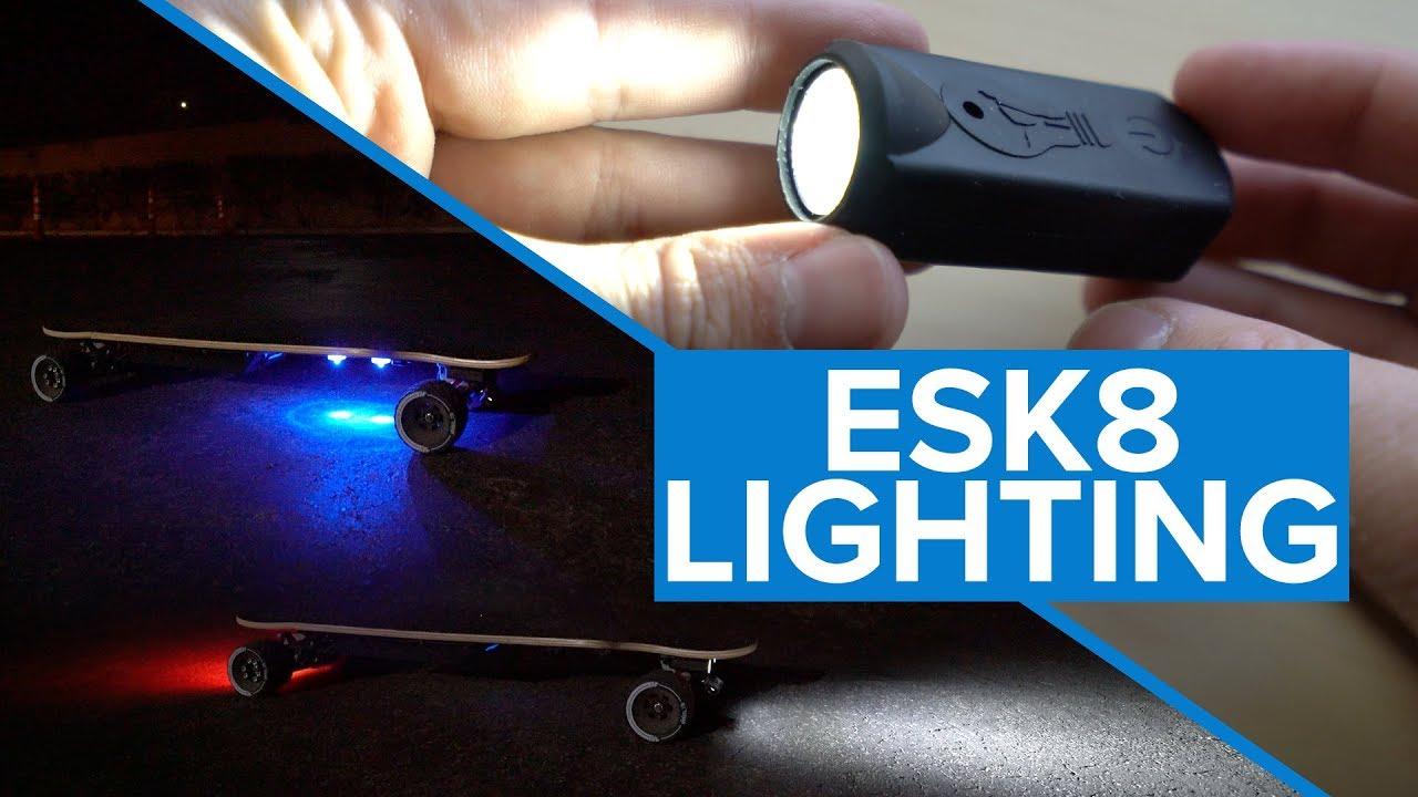 DIY Electric Skateboard Build  ESK8 Lighting, Shredlight Review  YouTube